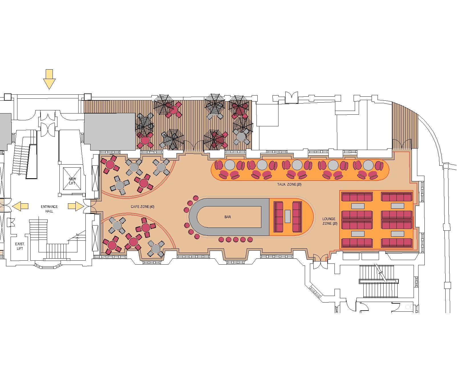 union building redevelopment nightclub plan lounge bar plan